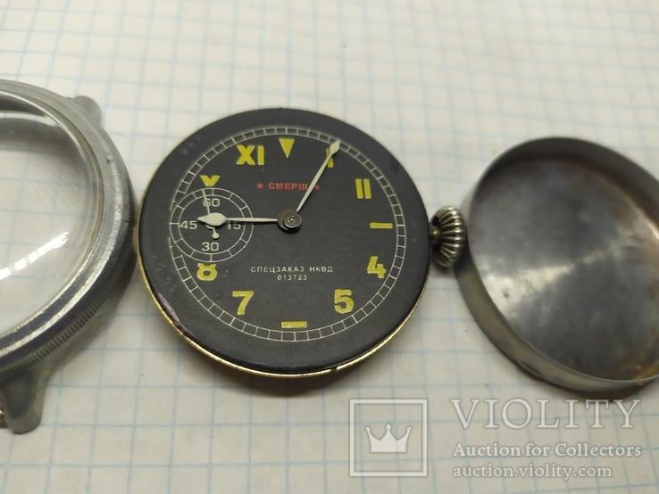 Часы механические фантазийные Смерш. 15 камней. 2-1 час з-д, фото №4