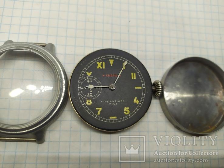 Часы механические фантазийные Смерш. 15 камней. 2-1 час з-д, фото №5