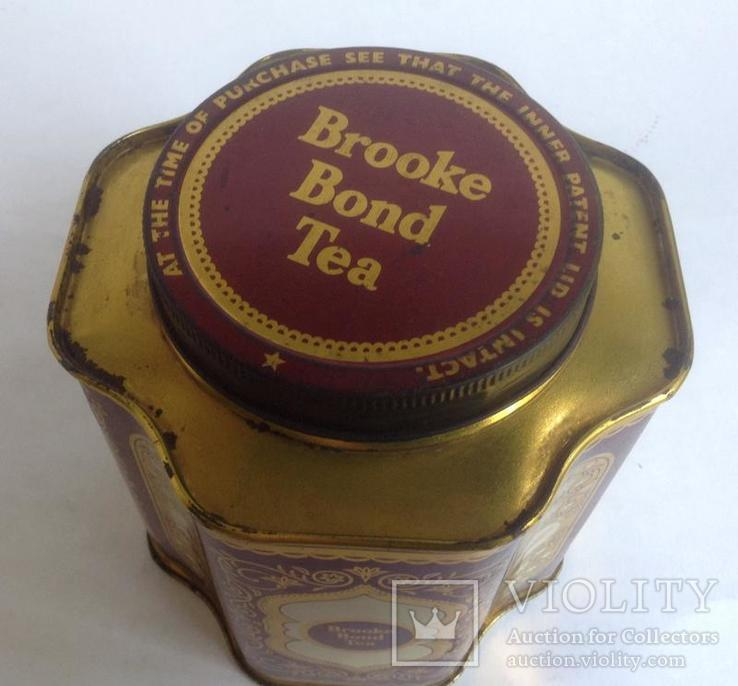 Коробка от чая Brook Bond Tea. Металл, жесть., фото №7