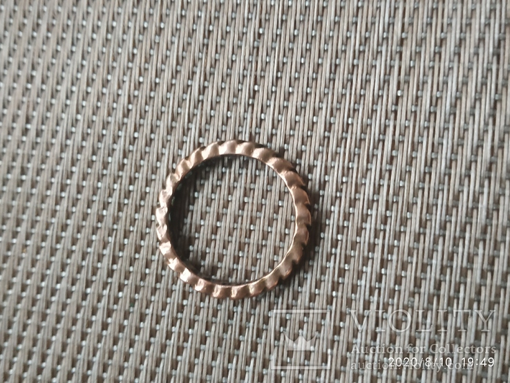 Кольцо в виде цепочки медное, фото №3