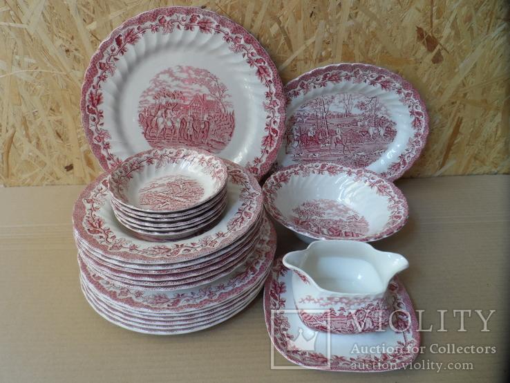 Набор посуды Myotts Country Life 6 персон 22 предмета Англия, фото №2