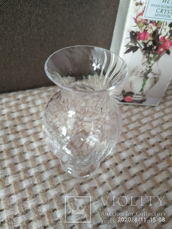 Миниатюрная вазочка хрусталь, фото №4