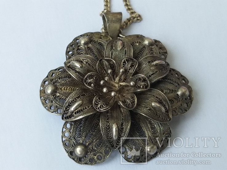Серебреная подвеска с цепочкой 18г. 925пр., фото №2