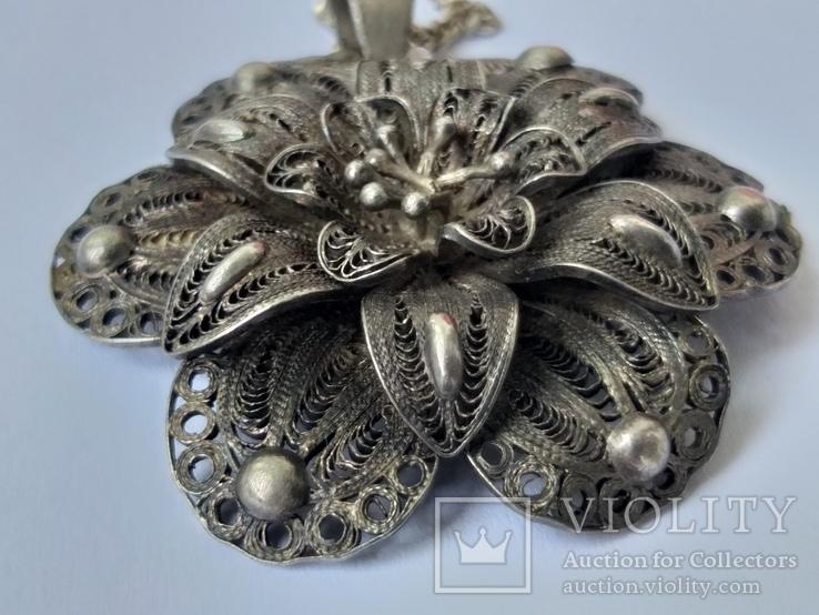 Серебреная подвеска с цепочкой 18г. 925пр., фото №6