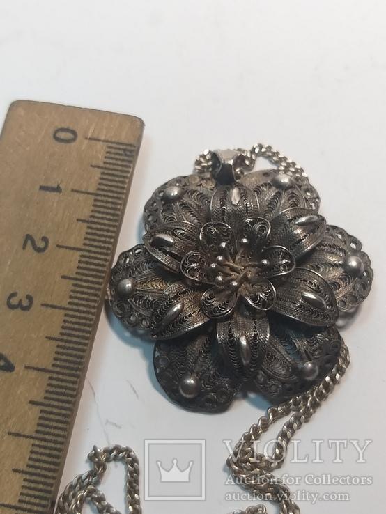 Серебреная подвеска с цепочкой 18г. 925пр., фото №11