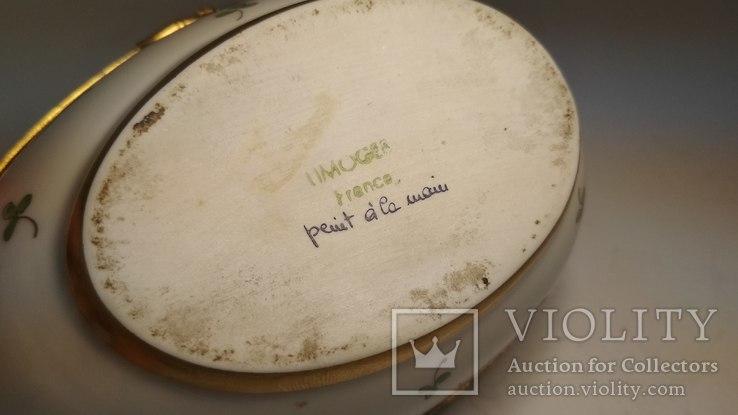 Старая фарфоровая шкатулка, Лимож, фото №6