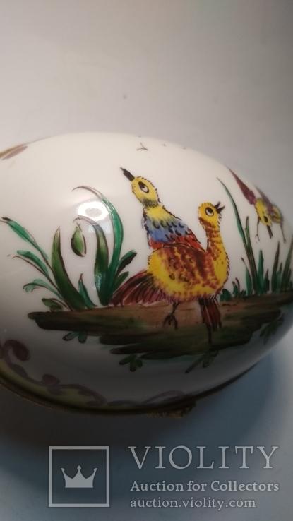 Старая фарфоровая шкатулка, Лимож, фото №9