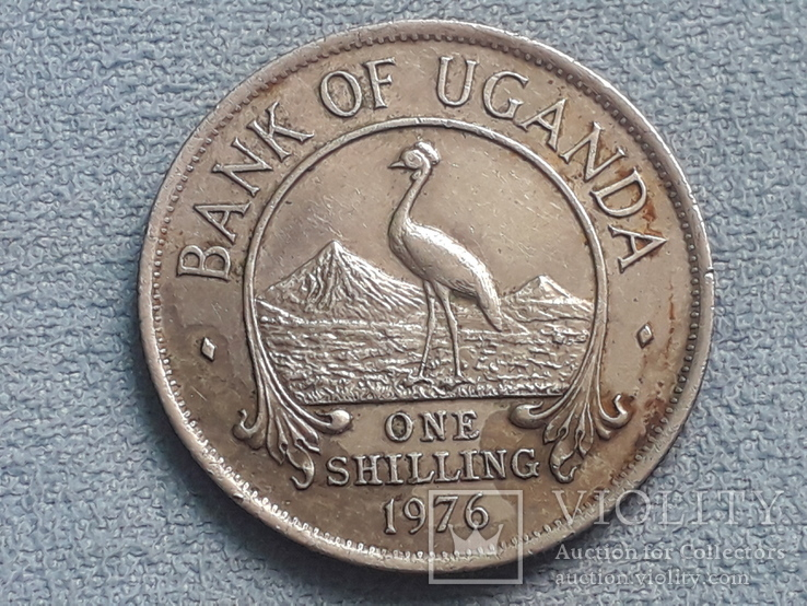 Уганда 1 шиллинг 1976 года, фото №2