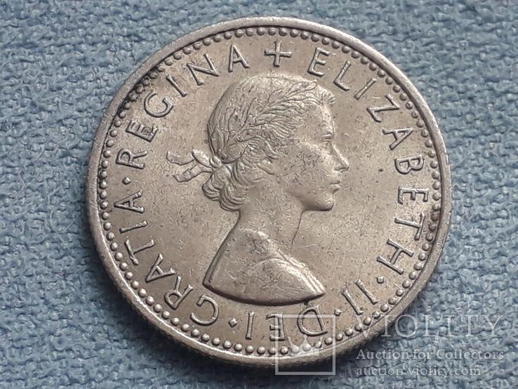 Великобритания 6 пенсов 1966 года, фото №3