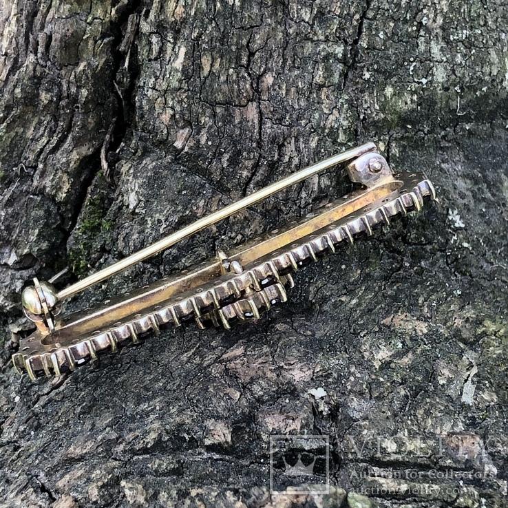 Винтажная серебряная брошь с богемскими гранатами, Чехия, фото №10