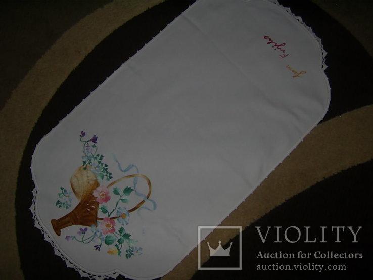 Салфетка с вышивкой 68х36 см, фото №7