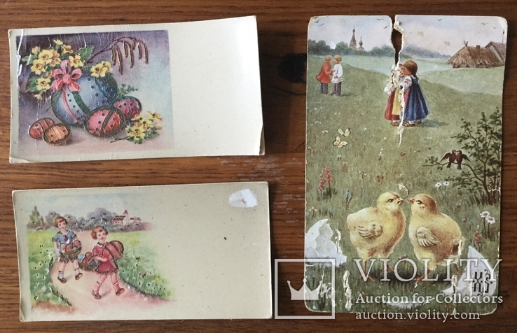 Старинные Пасхальные открытки 3 штуки