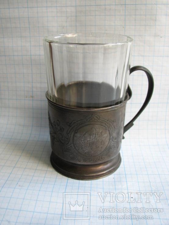 Подстаканник  серебро 84пр.   вес - 100г, фото №2
