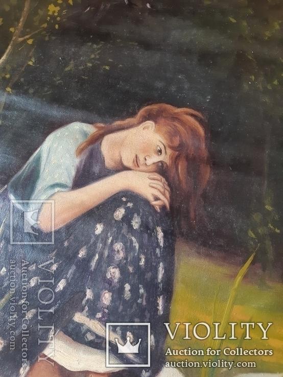 Картина Алёнушка. Копия., фото №3