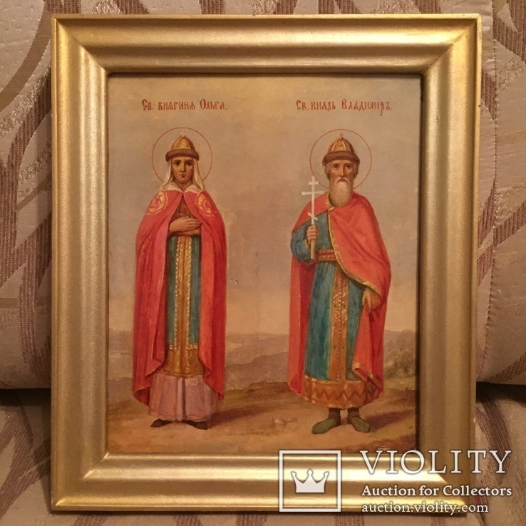 Икона Святые Ольга и Владимир, фото №2