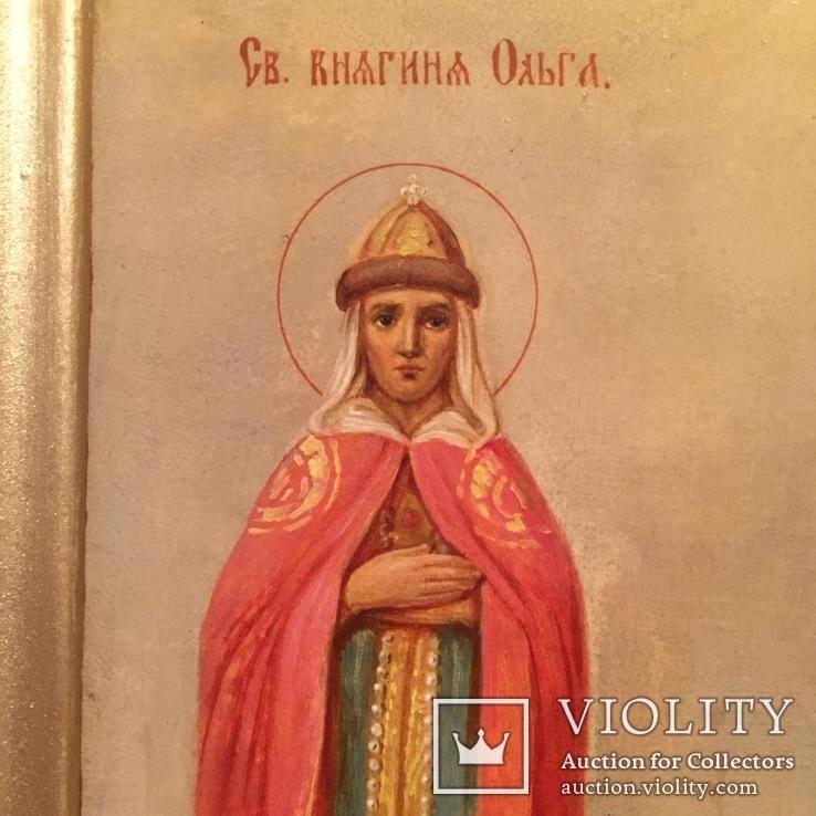 Икона Святые Ольга и Владимир, фото №3