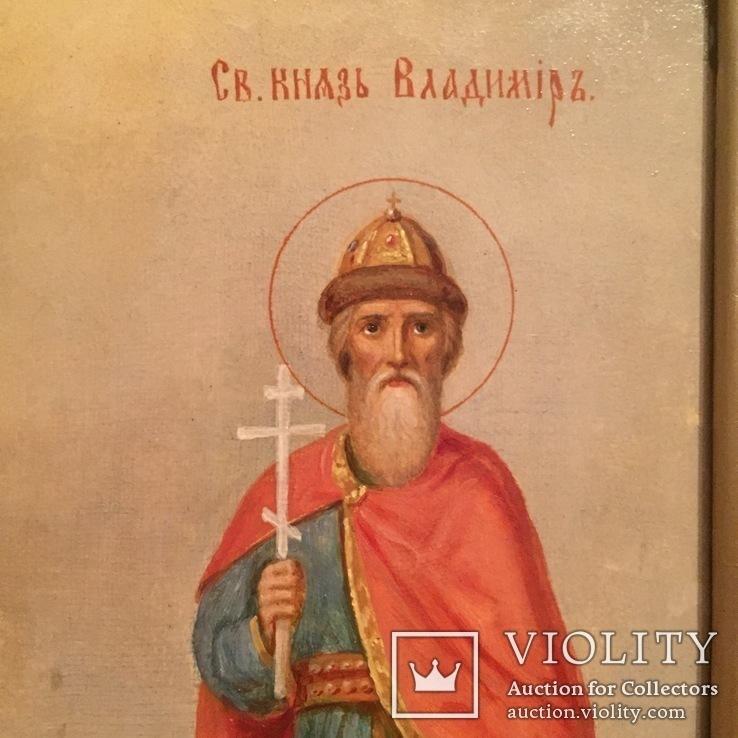 Икона Святые Ольга и Владимир, фото №4