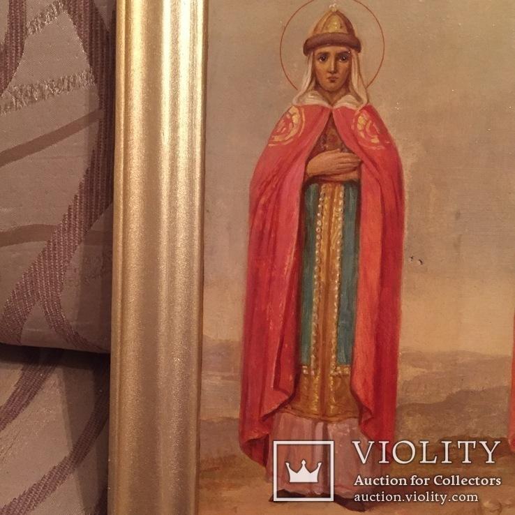 Икона Святые Ольга и Владимир, фото №9
