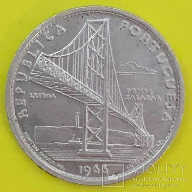 Португалія 20 ескудо, 1966 Відкриття мосту Салазара, фото №2