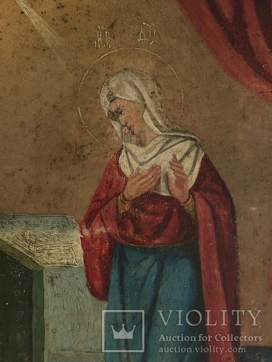 Икона на жести Дева Мария, фото №3