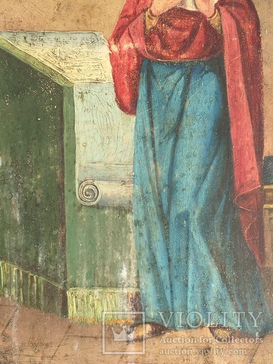 Икона на жести Дева Мария, фото №4