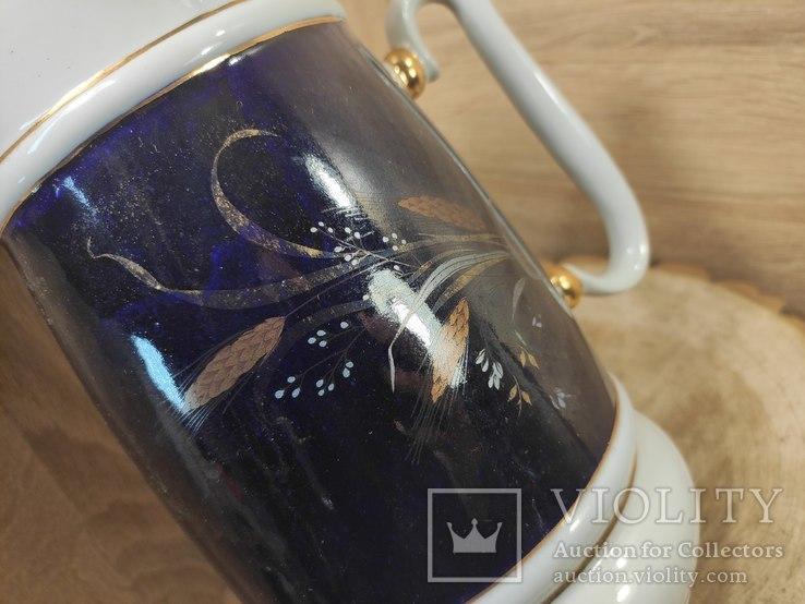 Кружка 2 литра,кобальт, золочение.СССР., фото №3