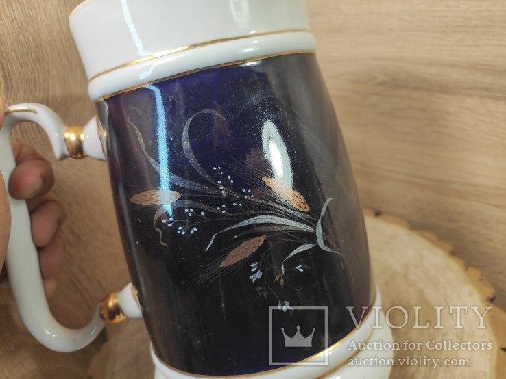 Кружка 2 литра,кобальт, золочение.СССР., фото №4