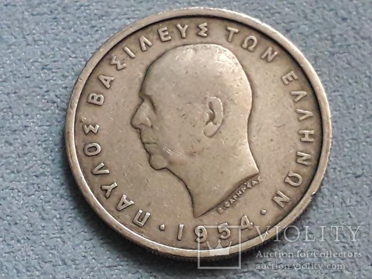Греция 5 драхм 1954 года, фото №3