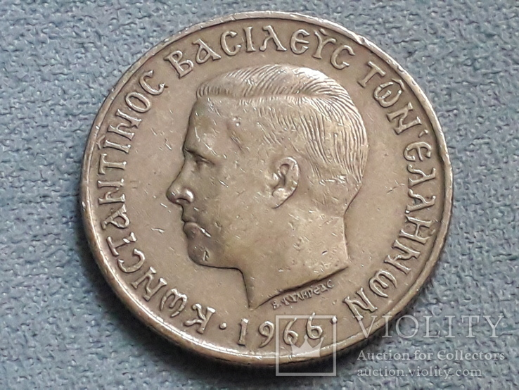 Греция 5 драхм 1966 года, фото №3