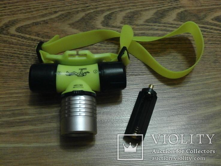 Налобный фонарь для подводного плаванья Police BL-6800, фото №2