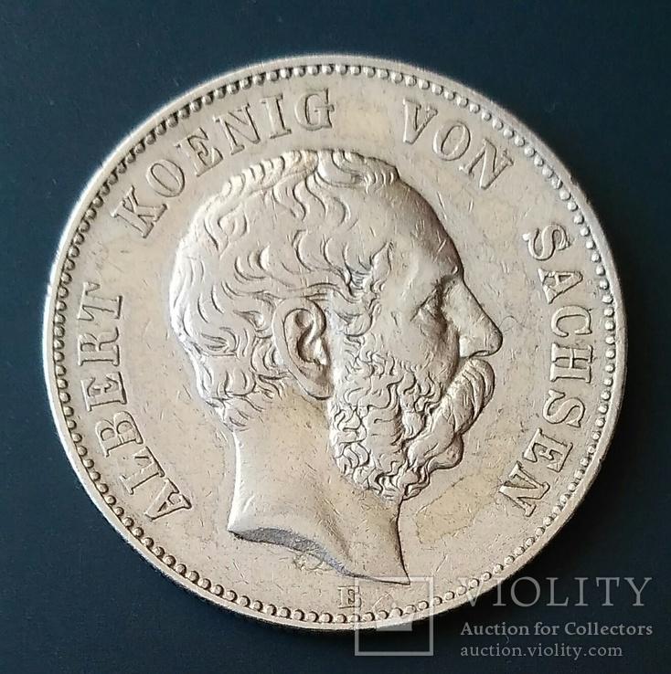 2 марки 1896 р. Саксонія. Альберт, фото №2