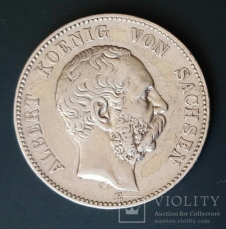 2 марки 1896 р. Саксонія. Альберт, фото №3