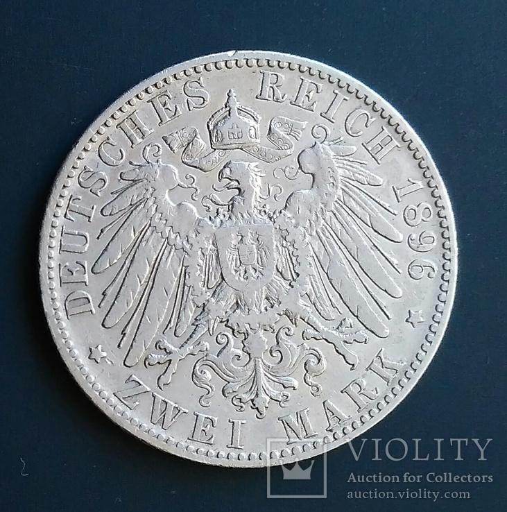 2 марки 1896 р. Саксонія. Альберт, фото №5