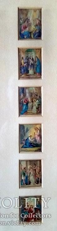 Антикварная Икона Большая - Картина под Стеклом Резная Деревянная Рама, фото №6