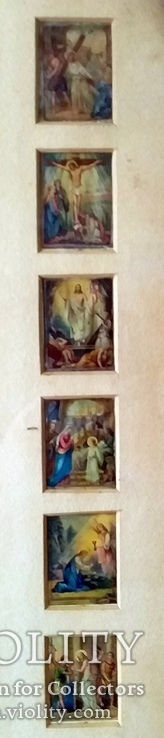 Антикварная Икона Большая - Картина под Стеклом Резная Деревянная Рама, фото №7