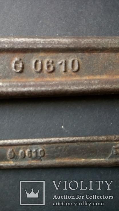 Два немецких гаечных рожковых ключа Tona 0610 30 мм 24 мм 12 мм 11 мм, фото №6