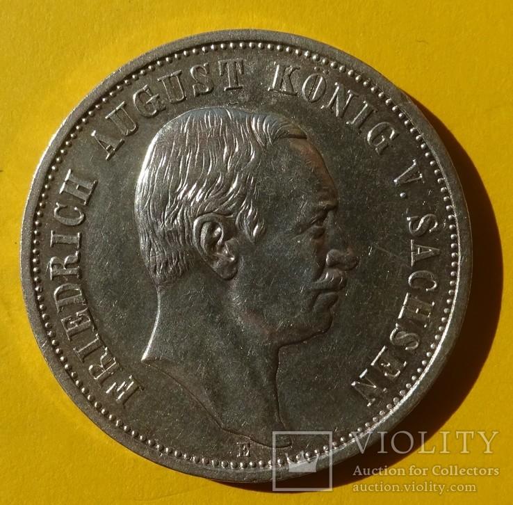 3 марки, Саксония, 1913 год., фото №2