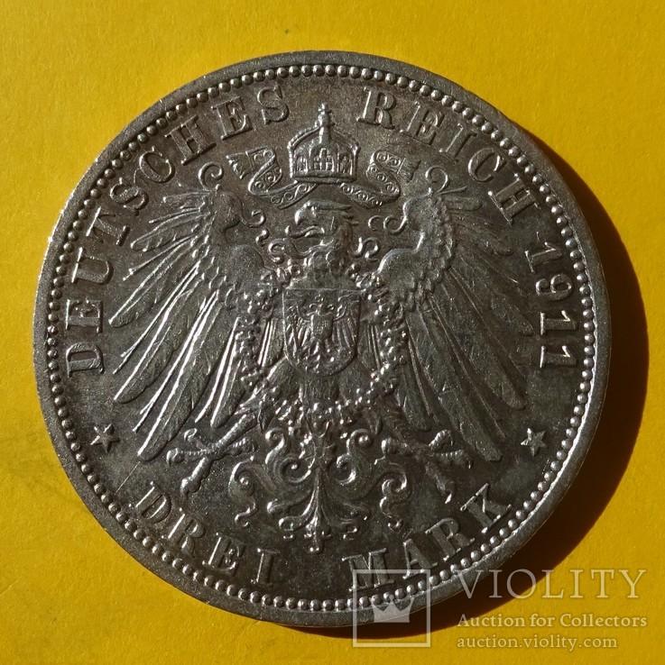 3 марки, Шамбург-Липпе. 1911 год., фото №4