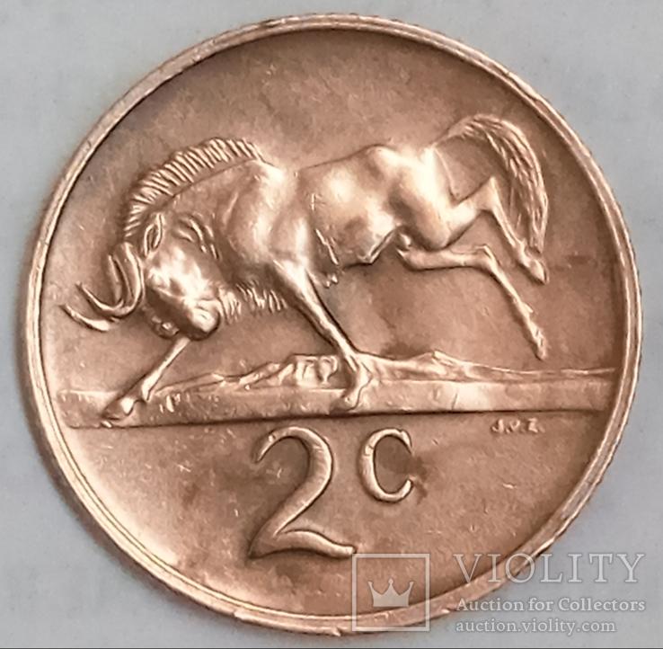 2 цента 1971 г. ЮАР, фото №2