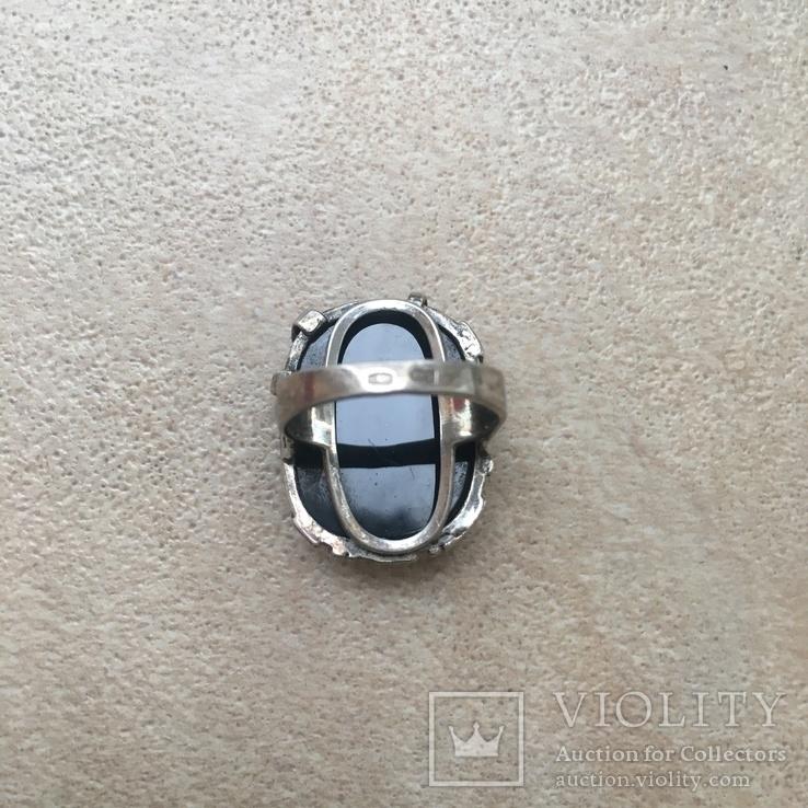 Серебрянный гарнитур с ониксом, фото №4