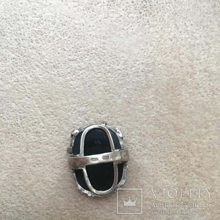 Серебрянный гарнитур с ониксом, фото №6