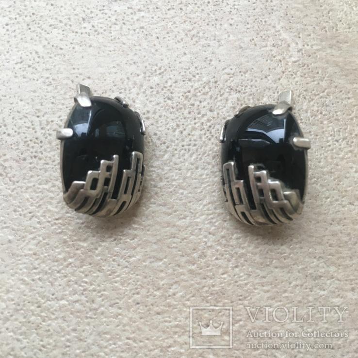 Серебрянный гарнитур с ониксом, фото №8