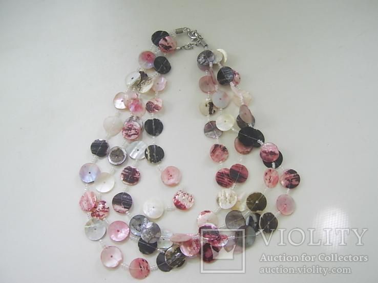 Ожерелье из перламутра в 4 ряда, фото №2