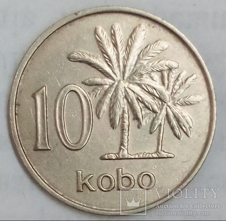 10 кобо 1973 г. Нигерия, фото №2