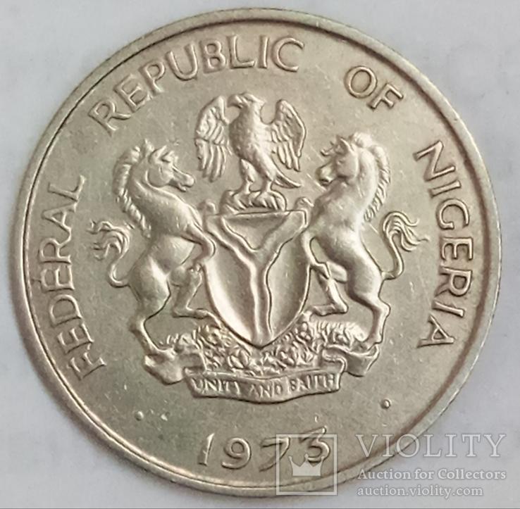 10 кобо 1973 г. Нигерия, фото №3