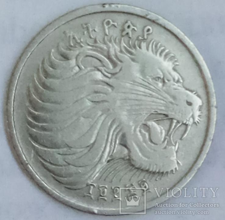 25 сантимов 1977 г. Эфиопия, фото №3