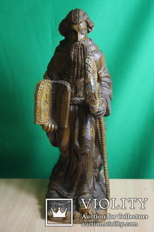Моисей 40см. (ручная резьба по дереву), фото №2