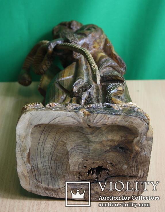 Моисей 40см. (ручная резьба по дереву), фото №3