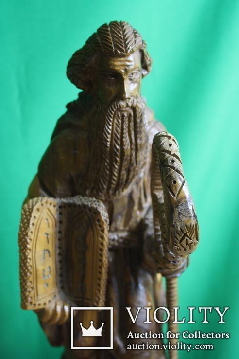 Моисей 40см. (ручная резьба по дереву), фото №4
