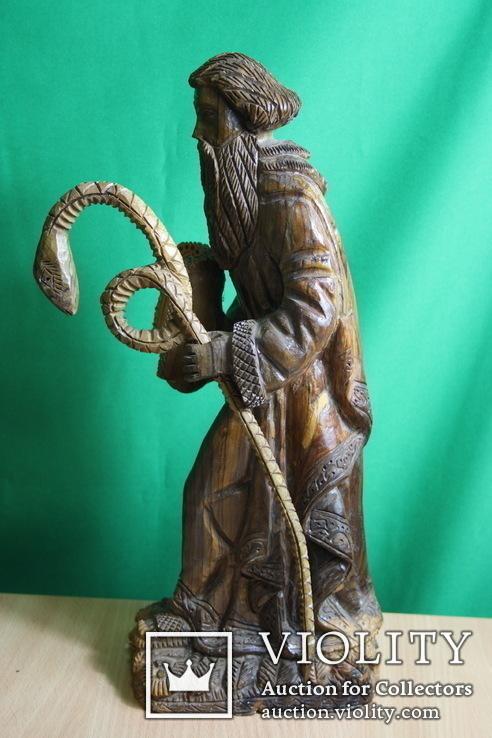 Моисей 40см. (ручная резьба по дереву), фото №5